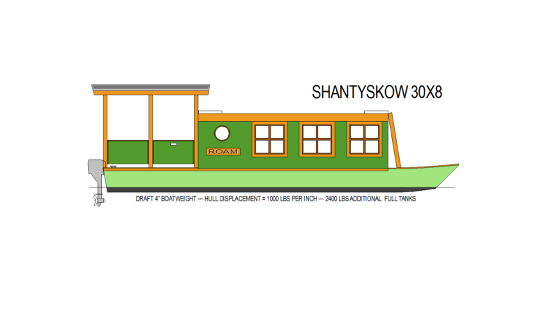 SHANTY SKOW TRAILERABLE TINY HOUSE BOAT | ECOCATS US Minimal